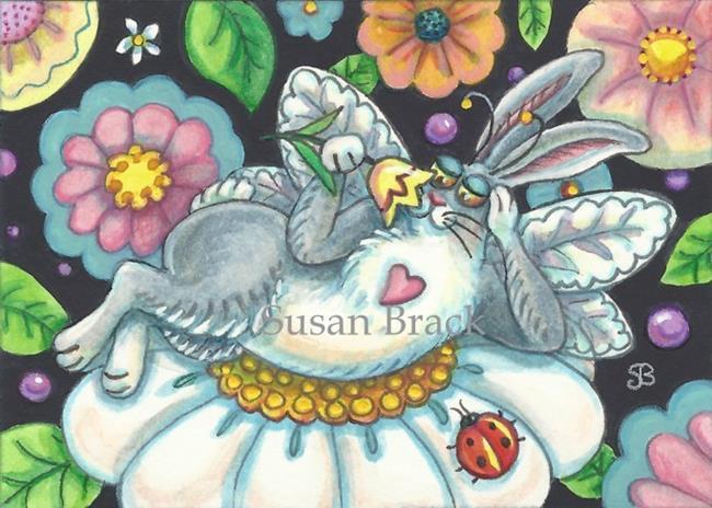 Art: FLUTTERBUN - SPRING INTOXICATION by Artist Susan Brack