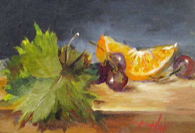 Art: Still Life with Grapes No. 2 by Artist Delilah Smith
