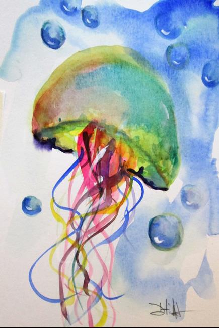 Art: Jellyfish No. 8 by Artist Delilah Smith