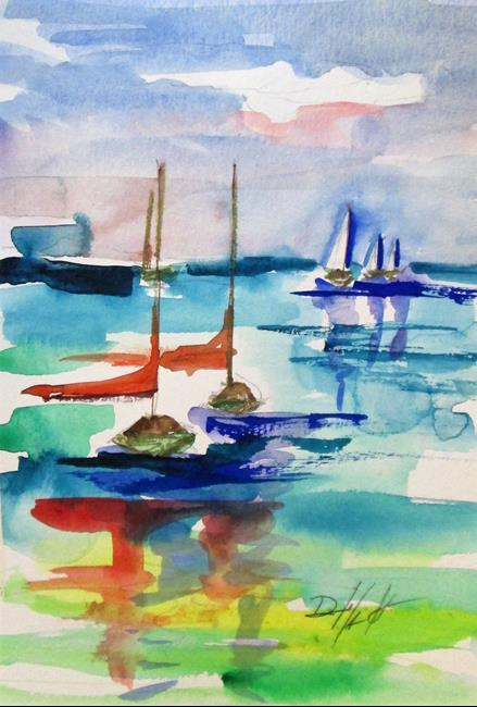 Art: Sailboats No. 15 by Artist Delilah Smith