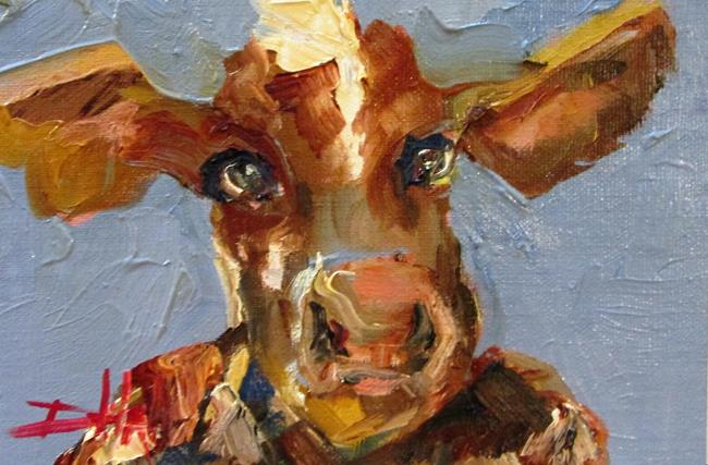 Art: Cow No. 17-sold by Artist Delilah Smith