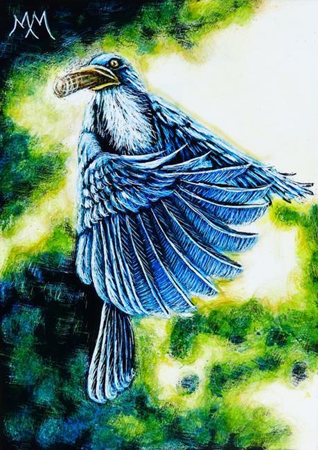 Art: In Flight Meal (SOLD) by Artist Monique Morin Matson