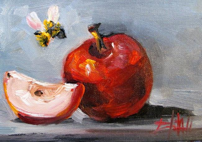 Art: Apple and Bee No. 5 by Artist Delilah Smith