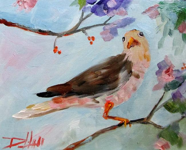 Art: Bird in a Tree by Artist Delilah Smith