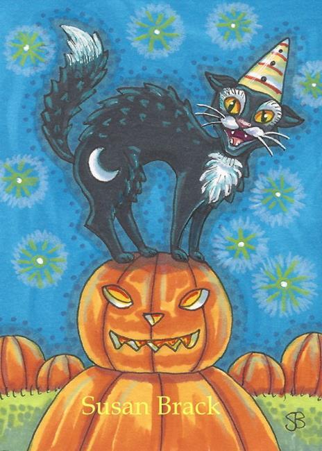 Art: SASSY CAT by Artist Susan Brack