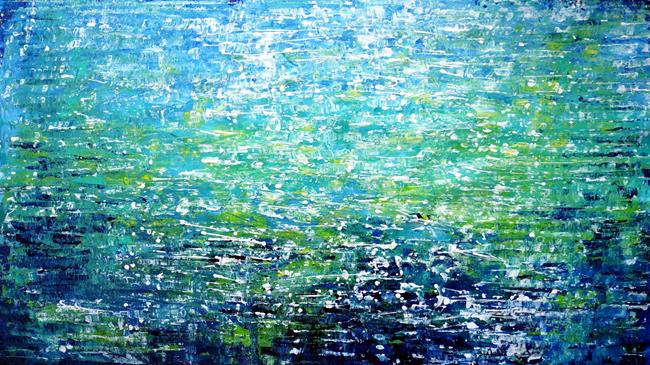 Art: Limitless Ocean ENDLESS BLUE The Color of the Sky and the Sea by Artist LUIZA VIZOLI