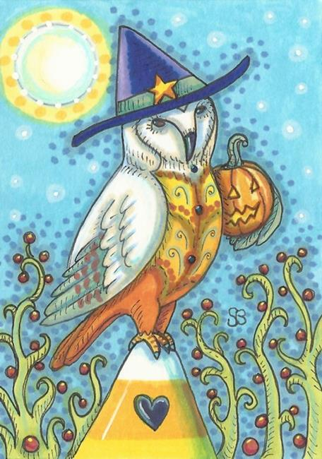 Art: ON CANDY CORN WATCH by Artist Susan Brack