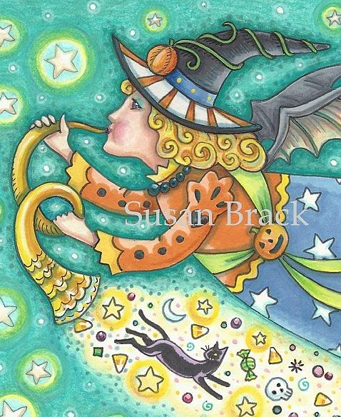 Art: MOONBEAMS AND BAT WINGS Cropped by Artist Susan Brack