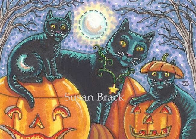 Art: BLACK CATS AND JACKS by Artist Susan Brack