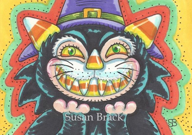 Art: CANDY CORN HOCUS POCUS by Artist Susan Brack