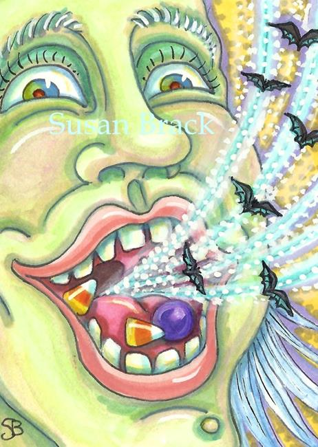 Art: HALLOWEEN BAT BREATH by Artist Susan Brack
