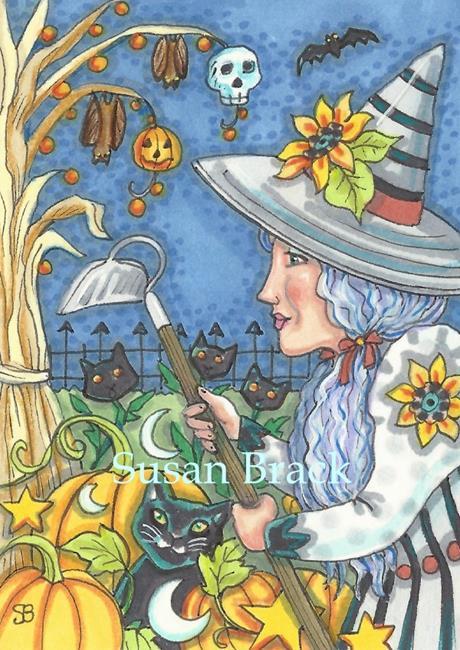 Art: HALLOWEEN GARDEN by Artist Susan Brack