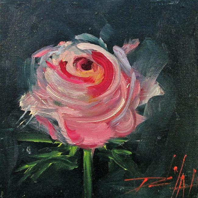 Art: A Rose by Artist Delilah Smith