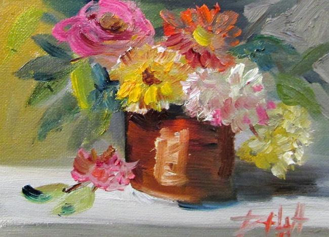 Art: Pot of Flowers by Artist Delilah Smith