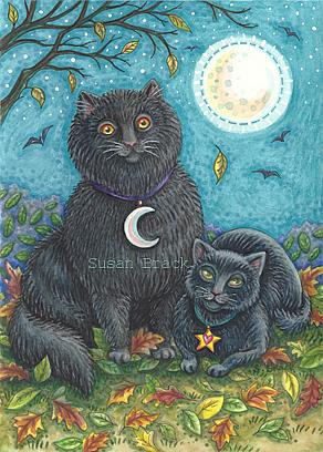 Art: BUBO AND PYEWACKET by Artist Susan Brack