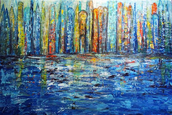Art: The Blue City. by Artist LUIZA VIZOLI