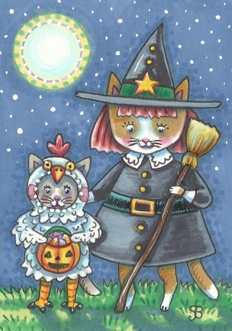 Art: CHICKEN LITTLE AND WITCH by Artist Susan Brack