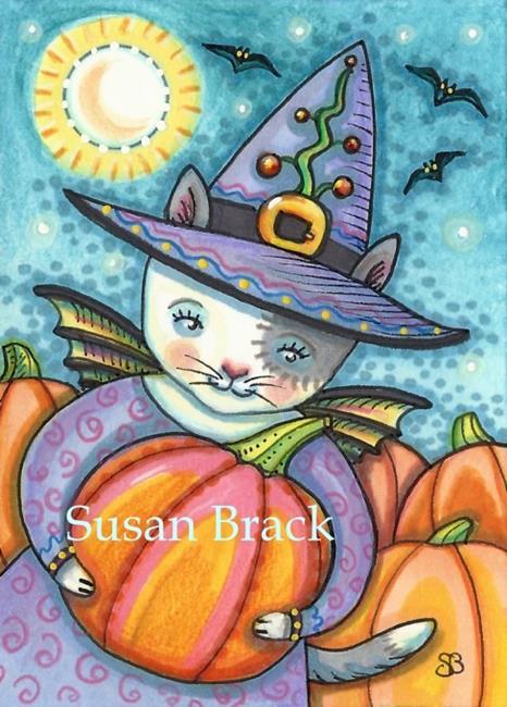 Art: LITTLE BAT CAT by Artist Susan Brack