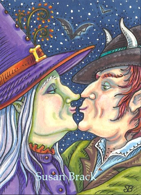 Art: WITCH AND HER WARLOCK by Artist Susan Brack
