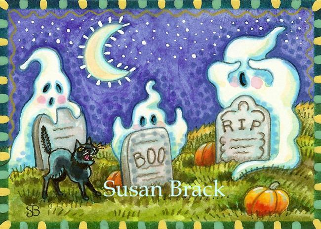 Art: PEEK A BOOO by Artist Susan Brack
