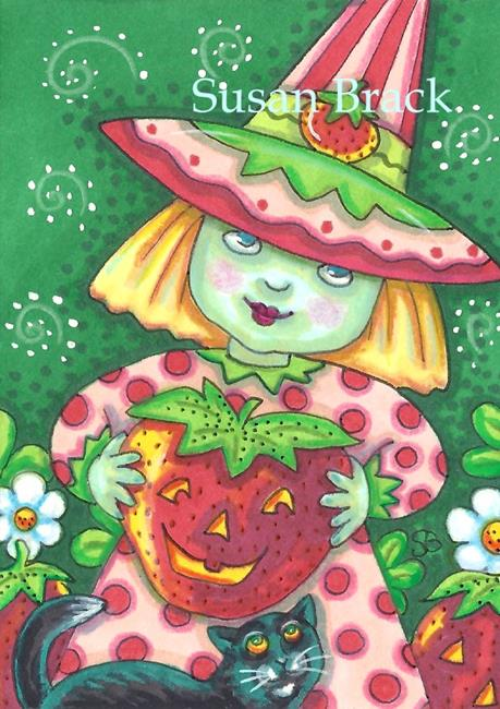 Art: STRAWBERRY POTION TIME by Artist Susan Brack