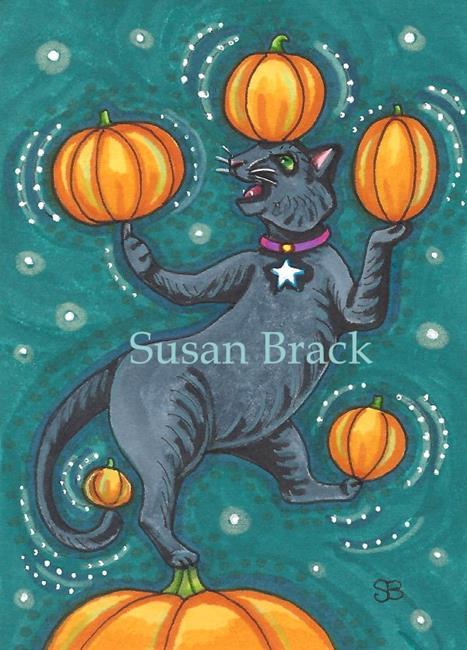 Art: SPINNING PUMPKINS by Artist Susan Brack