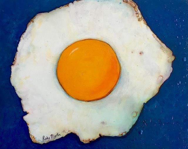 Art: Sunny Side Up Egg by Artist Ulrike 'Ricky' Martin