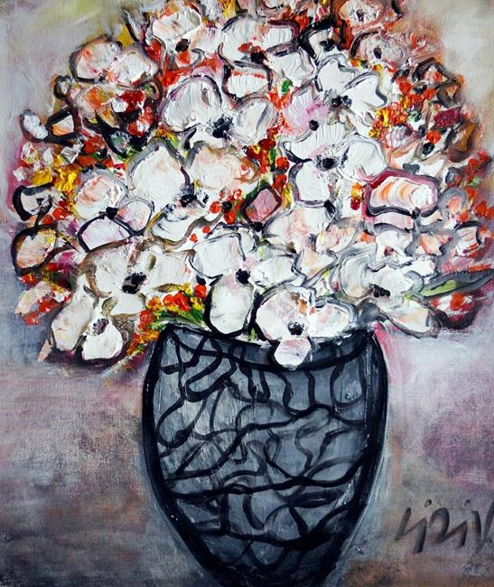 Art: Flowers Bouquet... by Artist LUIZA VIZOLI