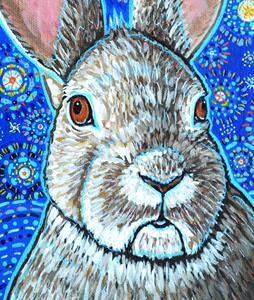Detail Image for art Starry Night Bunny Rabbit