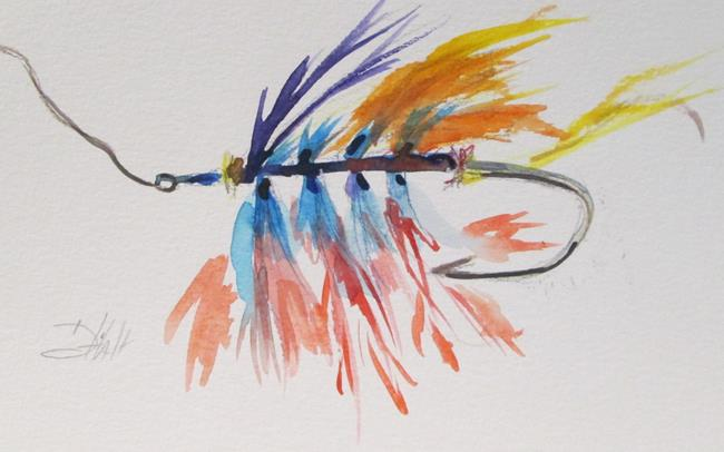 Art: Fishing Lure No 10 by Artist Delilah Smith