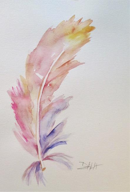 Art: Flamingo Feather by Artist Delilah Smith