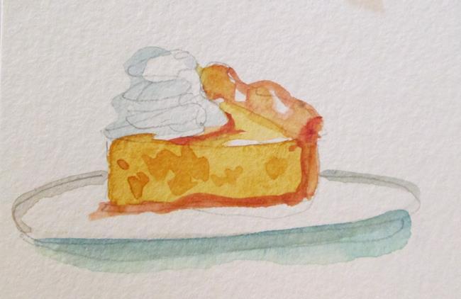 Art: Pumpkin Pie aceo by Artist Delilah Smith