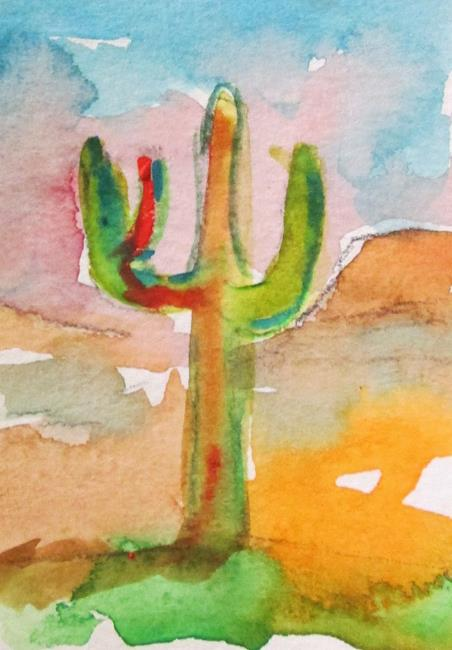 Art: Sunset Cactus by Artist Delilah Smith