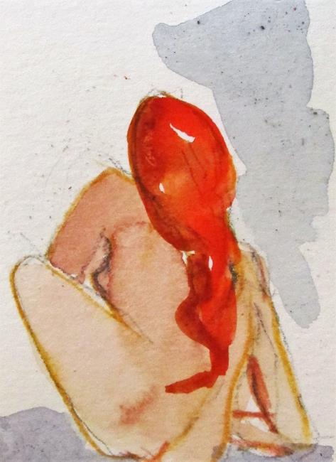 Art: Red Hair Nude by Artist Delilah Smith
