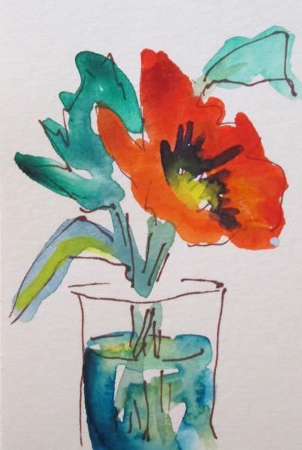 Art: Flower in Water by Artist Delilah Smith