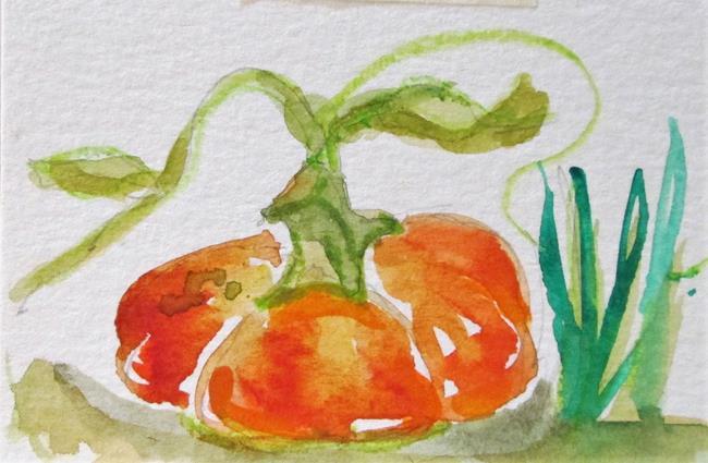 Art: Pumpkin No. 2 Aceo by Artist Delilah Smith
