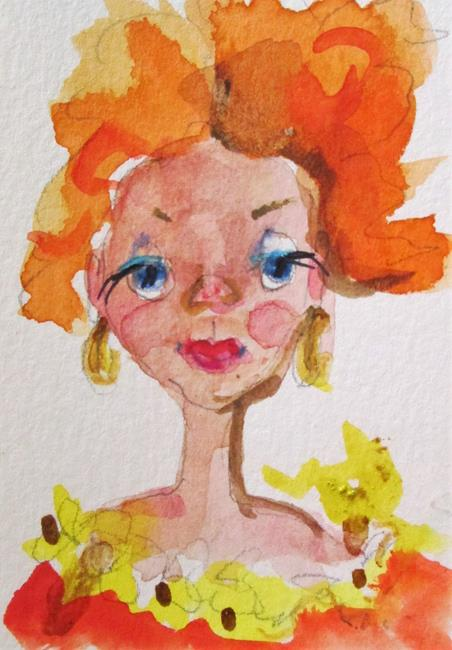 Art: Red Head Girl by Artist Delilah Smith
