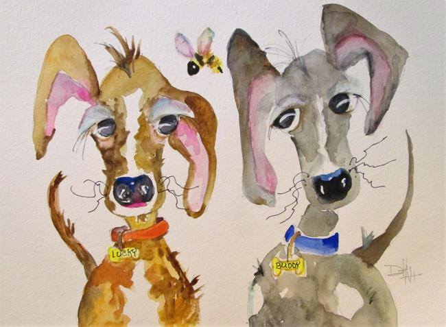 Art: Buddy and Lucky by Artist Delilah Smith