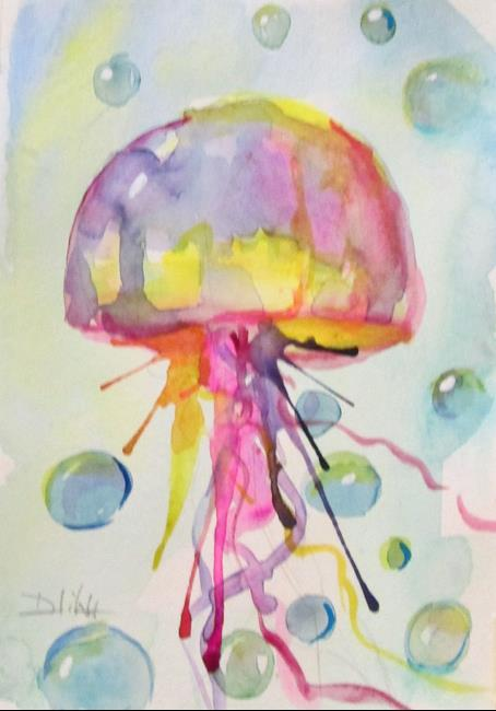 Art: Jelly Fish No. 8 by Artist Delilah Smith