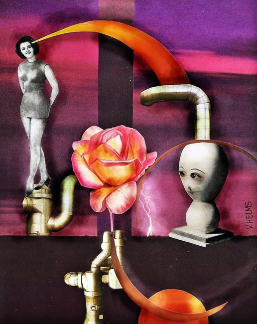 Art: Stokin' the Rose by Artist Vicky Helms