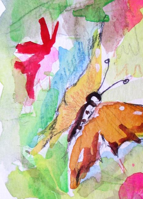Art: Butterfly Aceo by Artist Delilah Smith