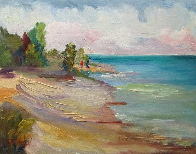 Art: Walking the Beach by Artist Delilah Smith