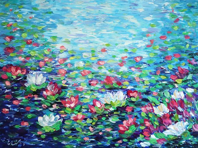 Art: Lily Pond by Artist LUIZA VIZOLI