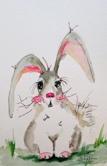 Art: Fuzzy Rabbit by Artist Delilah Smith