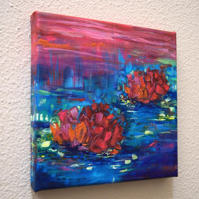 Art: Evening Song- Water Lilies series - SOLD by Artist Dana Marie