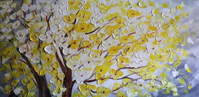 Art: Yellow Blossom  by Artist LUIZA VIZOLI
