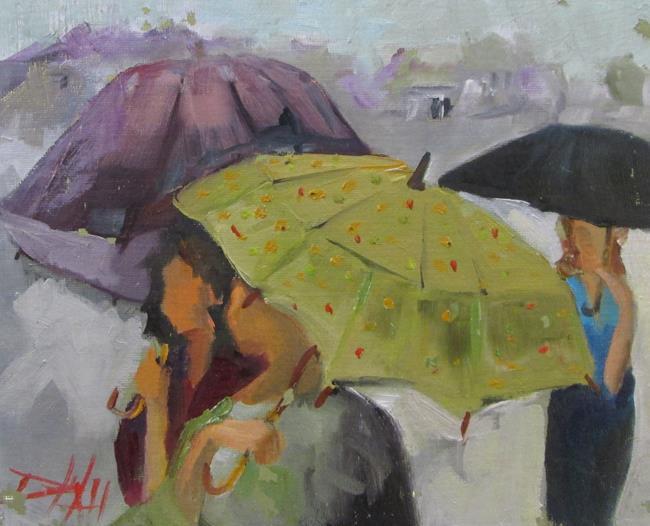 Art: Umbrellas No. 2 by Artist Delilah Smith