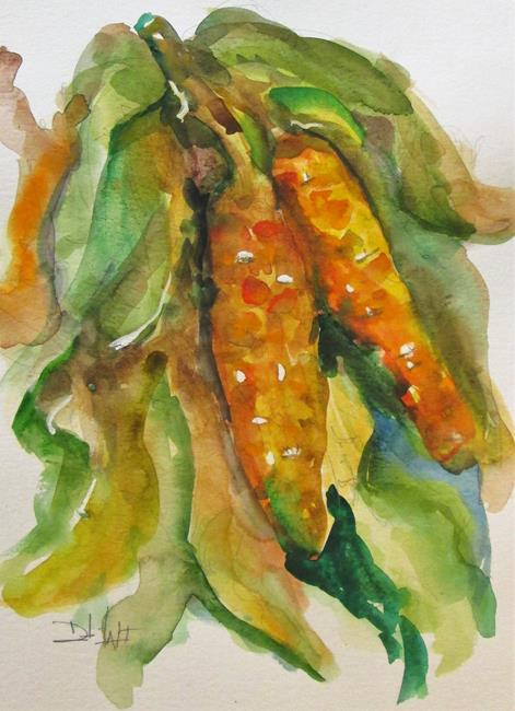 Art: Fall Corn by Artist Delilah Smith