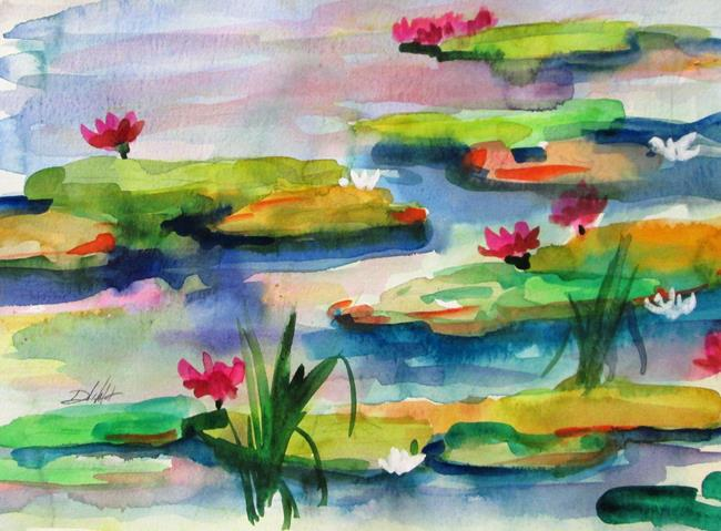 Art: Lily Pond No. 15 by Artist Delilah Smith