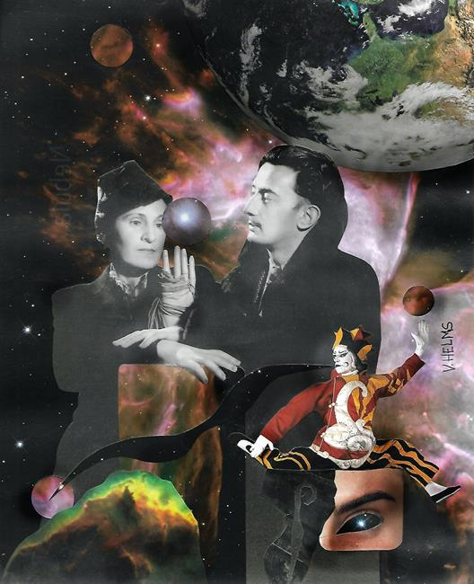 Art: Gala and Dali by Artist Vicky Helms